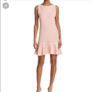 Theory Flirty Flare Pink Kensington Dress